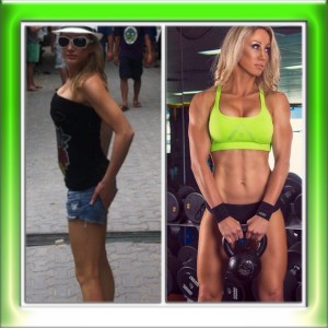 nardia b4 and after fitness model